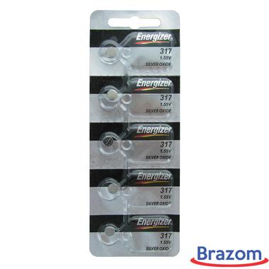 Bateria Energizer 317 / SR516SW Cartela com 05 unidades