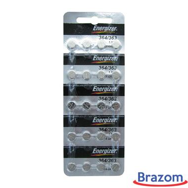 Bateria Energizer 364 / SR621SW Cartela com 20 unidades