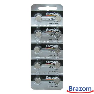 Bateria Energizer 395 / SR927SW Cartela com 10 unidades