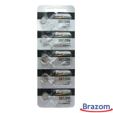 Bateria Energizer 397 / SR726SW Cartela com 05 unidades