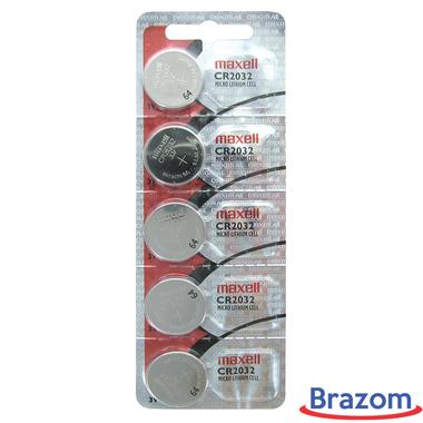 Bateria Maxell CR 2032 Cartela com 05 unidades
