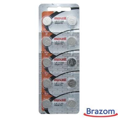 Bateria Maxell LR 1130 / 189 Cartela com 10 unidades