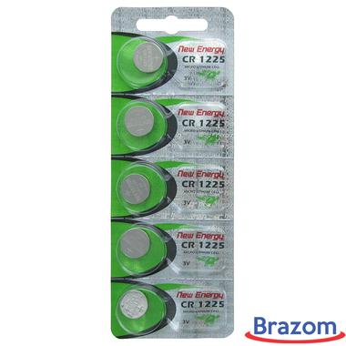 Bateria New Energy CR 1225 Cartela com 05 unidades