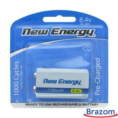 Bateria New Energy recarregável 9V 170MAH BLX1